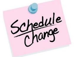 Image result for schedule change